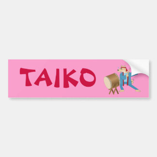 Taiko Drum Cartoon Dog Taiko Drummer Bumper Stickers