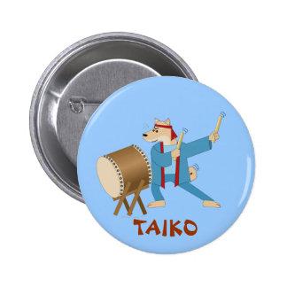 Taiko Drum Cartoon Dog Taiko Drummer Pin