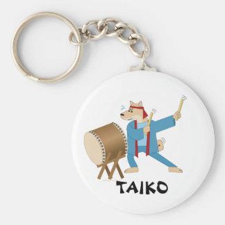 Taiko Drum Cartoon Dog Taiko Drummer Keychain