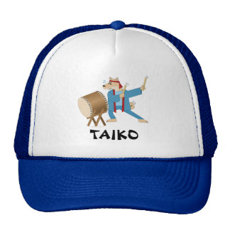 Taiko Drum Cartoon Dog Taiko Drummer Trucker Hat