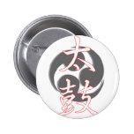 Taiko en kanji pins