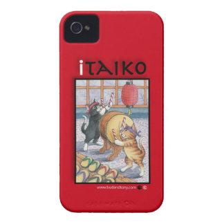 Taiko que teclea la caja del iPhone 4 de los gatos iPhone 4 Case-Mate Carcasas