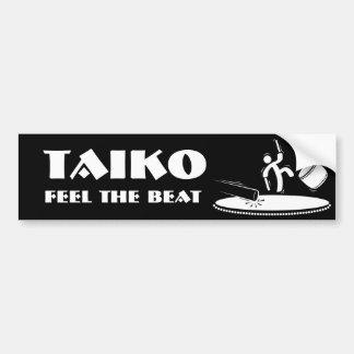 Taiko - sienta el golpe - pegatina para el paracho pegatina para auto