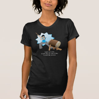 Taiko Smells Like Awesome (Art + Haiku) T-Shirt