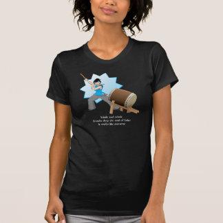 Taiko Smells Like Awesome (Art + Haiku) Tee Shirt