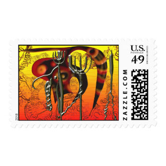 Tail and tridents postage