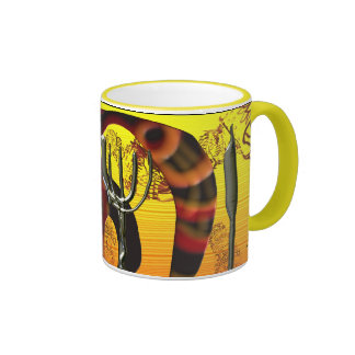 Tail and tridents ringer coffee mug