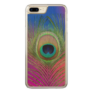Tail feather of a peacock carved iPhone 8 plus/7 plus case
