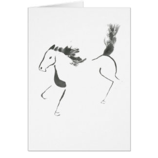 Tail High, Sumi-e Year of the Horse Greeting Cards