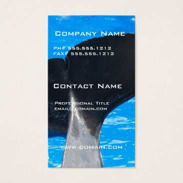 Professional Business Tail of a Whale Business Cards