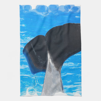 Tail of a Whale Kitchen Towel