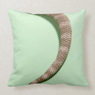 Tail of bearded dragon throw pillow