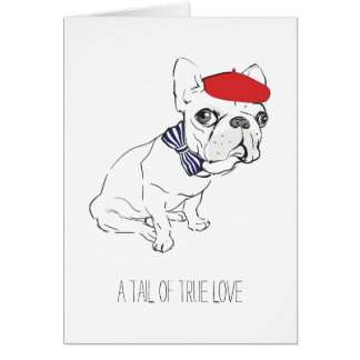 """Tail of True Love"" Valentine's Day Card"