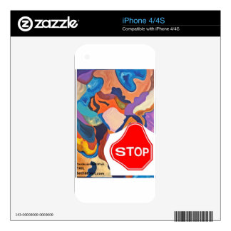 Tail Stop Sign Decal For iPhone 4