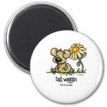 Tail Waggin Gratitude - Flower Fridge Magnets
