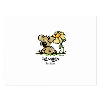 Tail Waggin Gratitude - Flower Postcard