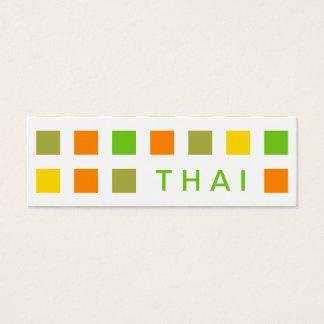 TAILANDÉS (cuadrados de la MOD) Tarjetas De Visita Mini