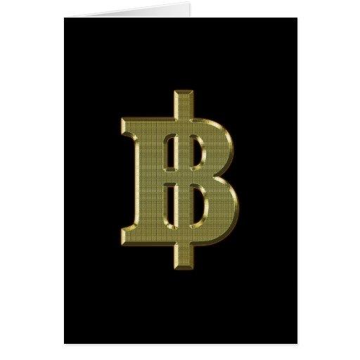 ฿ tailandés de la moneda del dinero del BAHT del ฿ Tarjeta De Felicitación