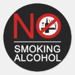 ⚠ tailandés de la muestra del ⚠ de no fumadores pegatinas redondas
