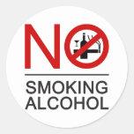 ⚠ tailandés de la muestra del ⚠ de no fumadores etiquetas redondas