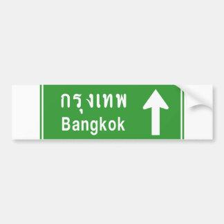 ⚠ tailandés de la señal de tráfico de la carretera pegatina de parachoque