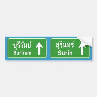 ⚠ tailandés de la señal de tráfico de la carretera etiqueta de parachoque