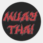Tailandés de Muay Etiqueta