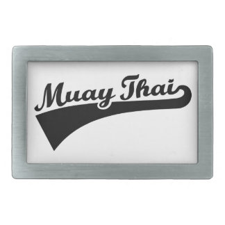 Tailandés de Muay Hebilla Cinturon Rectangular
