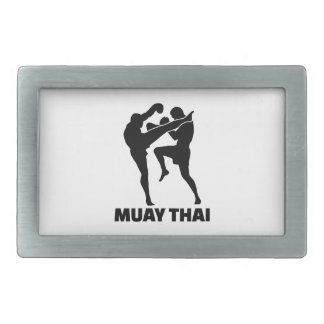 Tailandés de Muay Hebilla De Cinturón Rectangular