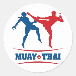 Tailandés de Muay Pegatina Redonda