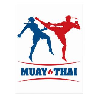 Tailandés de Muay Tarjeta Postal