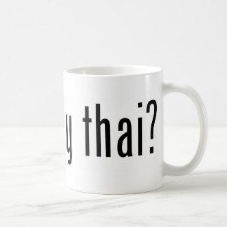 ¿tailandés muay conseguida? taza de café