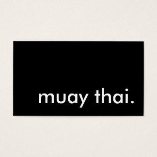 tailandés muay tarjetas de visita