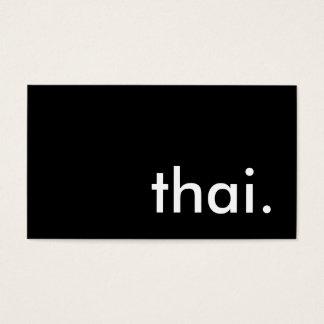 tailandés tarjetas de visita