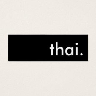 tailandés tarjetas de visita mini