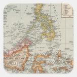 Tailandia, archipiélago de Malay Calcomanías Cuadradass Personalizadas