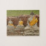 Tailandia, Ayutthaya. Estatuas de buddhas que se s Rompecabeza Con Fotos