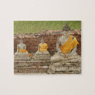 Tailandia Ayutthaya Estatuas de buddhas que se s Rompecabeza Con Fotos