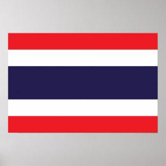 Tailandia - bandera tailandesa impresiones