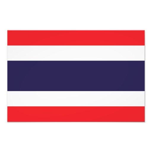 Tailandia - bandera tailandesa arte fotográfico