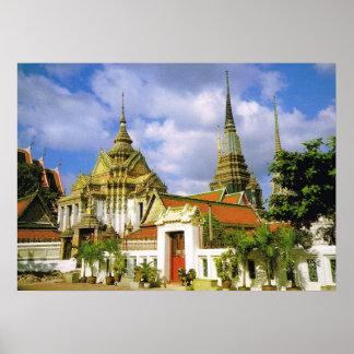 Tailandia, Bangkoj Wat Phra Chetuphon Póster