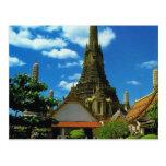 Tailandia, Bangkok, gran pagoda, Temple of Dawn Tarjetas Postales
