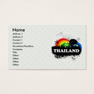 Tailandia con sabor a fruta linda tarjetas de visita
