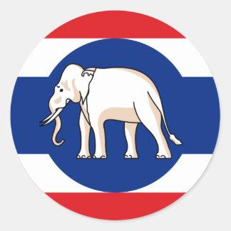 Tailandia   consular, Tailandia Pegatina Redonda