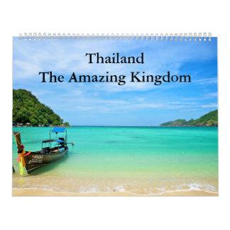 Tailandia - el reino asombroso calendarios