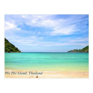 Tailandia en la isla de la phi de la phi tarjeta postal