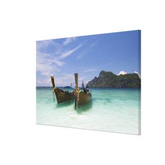 Tailandia, isla de Don de la phi de la phi, playa  Lona Envuelta Para Galerías
