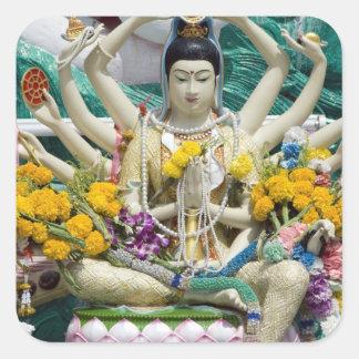 Tailandia KOH Samui de Ko Samui aka Wat Plai 2 Calcomania Cuadradas