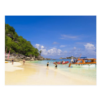 Tailandia, mar de Andaman. Pasajeros onshore en Postal
