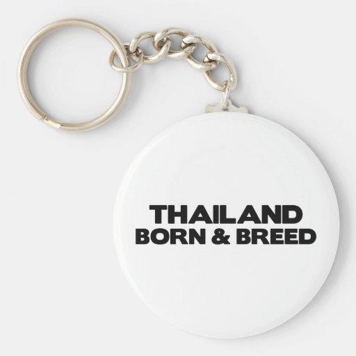 Tailandia-Nacido y raza Llavero Redondo Tipo Pin